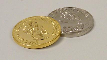 ゴールド & シルバー コイン手品